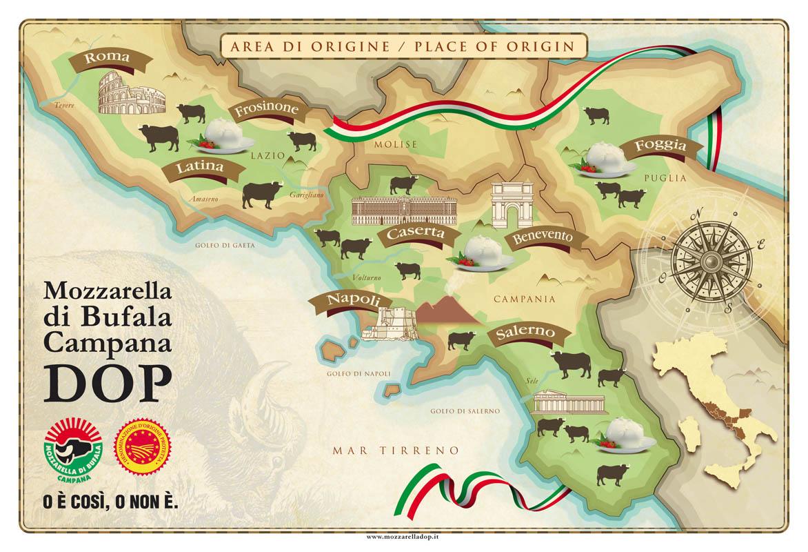 """Résultat de recherche d'images pour """"zone de production de la mozzarella di bufala"""""""