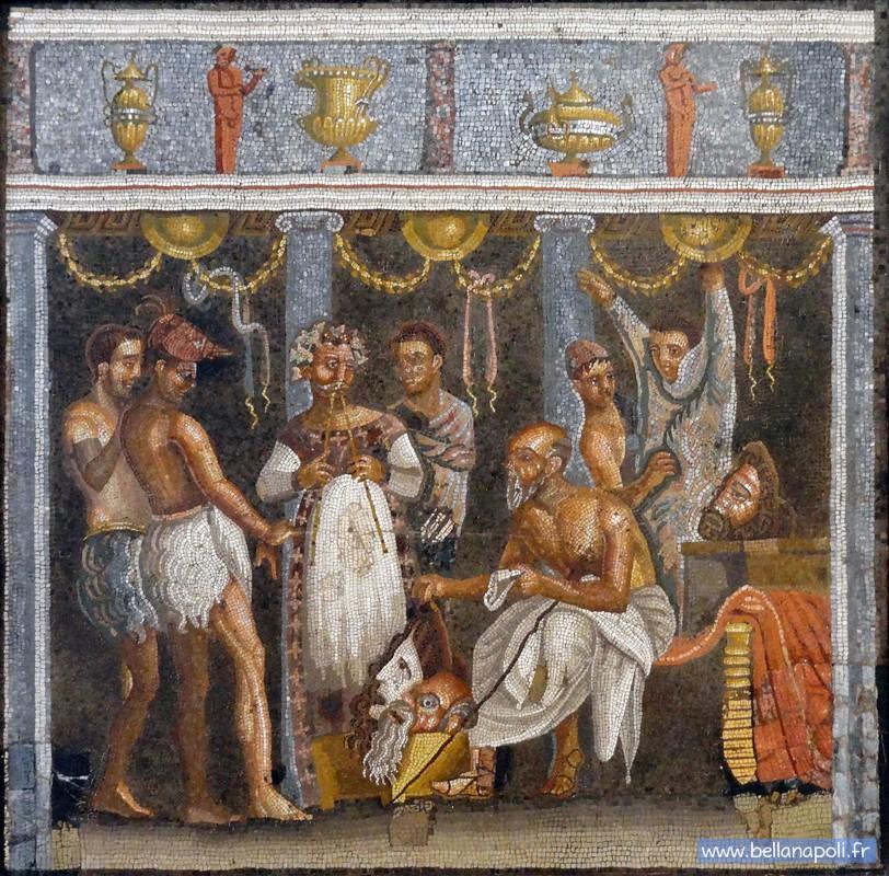 Coronavirus - Comment vivez-vous le confinement? - Page 4 Mosaique-romaine-musiciens-291